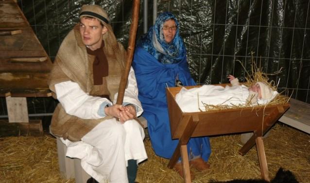 Jozef, Maria en kindje Jezus.