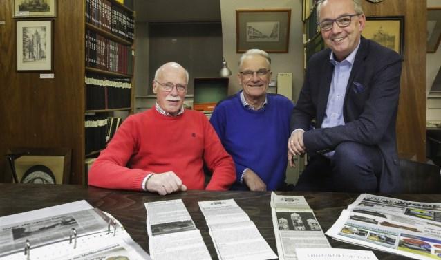 Medewerkers van de Heemkundekring Weerderheem. V.l.n.r. Joop van Appeldorn, Henk Wessels en Henk van Mierlo. Foto: Jurgen van Hoof.