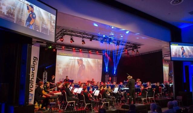 Harmonieorkest de Volharding tijdens een eerder concert. Foto: Connie Sinteur Fotografie.