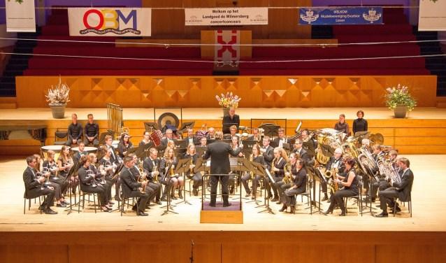 De concertwedstrijden van brassband, fanfare en harmoniemuziek worden komend weekend verzorgd door Excelsior Losser. Foto: Harold Snippert