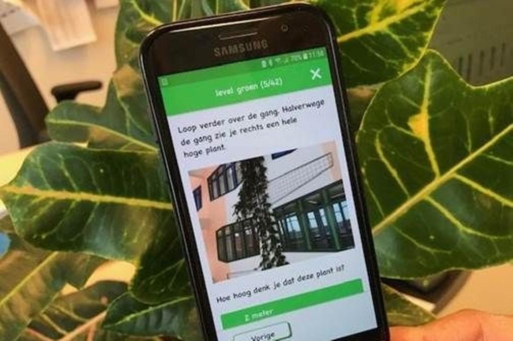 Groene speurroute (Isala kids) app.  © Persgroep