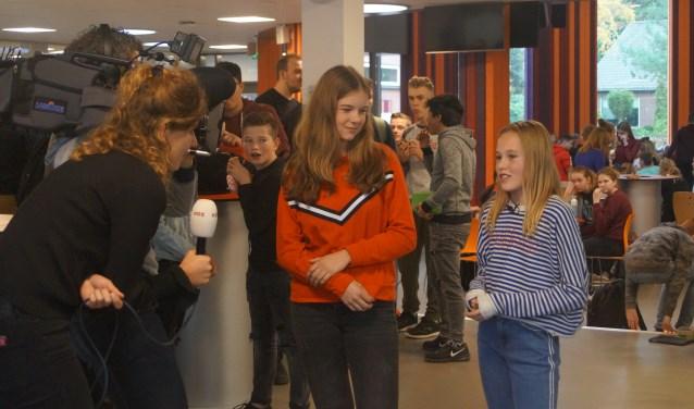 Leerlingen die vorig jaar hebben deelgenomen aan e-VOlve worden geïnterviewd.