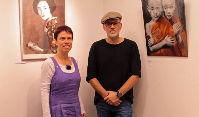 De Vlaardingse kunstenaars Hanneke Talmon en Wim Paalberends