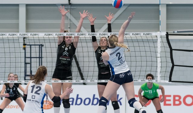 Zaterdag spelen de dames van Sliedrecht Sport de laatste wedstrijd in de reguliere competitie van de Eredivisie tegen VC Weert. (Foto: Hans van Wijngaarden)