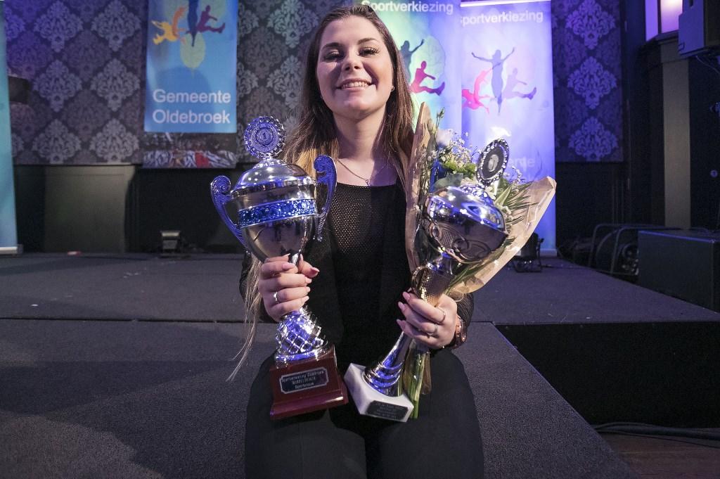 Kleiduivenschutter Esmee van der Veen werd uitgeroepen tot Sportvrouw van het jaar. Foto: Dik Kuiper © Persgroep