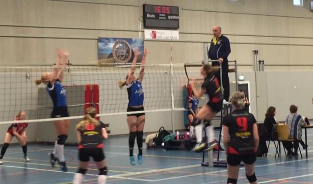 Door snel spel en goede verdediging kwamen de dames van WVC direct op een voorsprong.