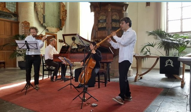 Barokensemble Main-tenu bestaat uit vier doorgewinterde professionele barokmusici, die musiceren op hoog niveau. (foto: pr)