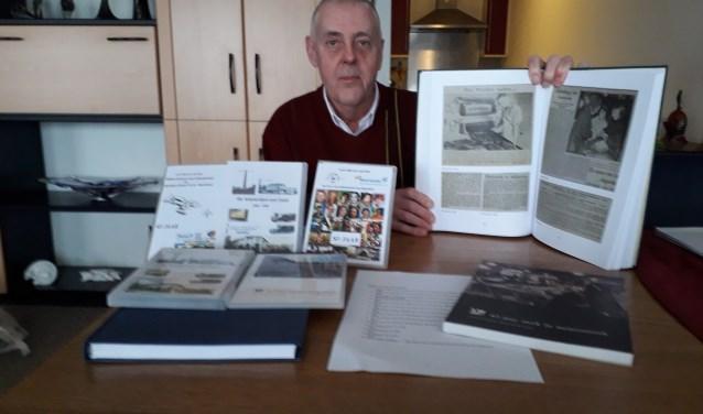 De publicaties van Herman uit de Bosch zijn verkrijgbaar via het Zeister Historisch Genootschap (ZHG) en hebben betrekking op onderwerpen die met Zeist te maken hebben. FOTO: Maarten Bos