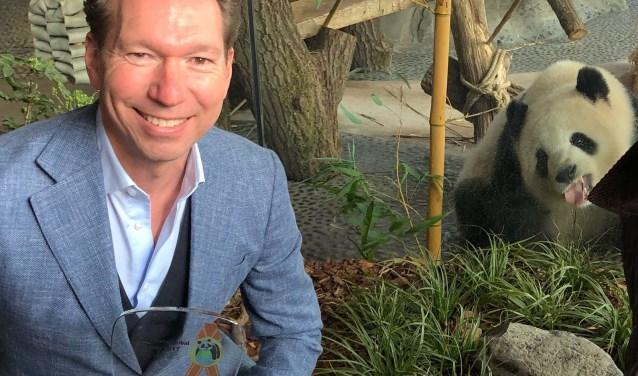 Robin de Lange, directeur Ouwehands Dierenpark is blij met de de toekenning van mooiste pandaverblijf ter wereld. (Foto: Ouwehands Dierenpark)