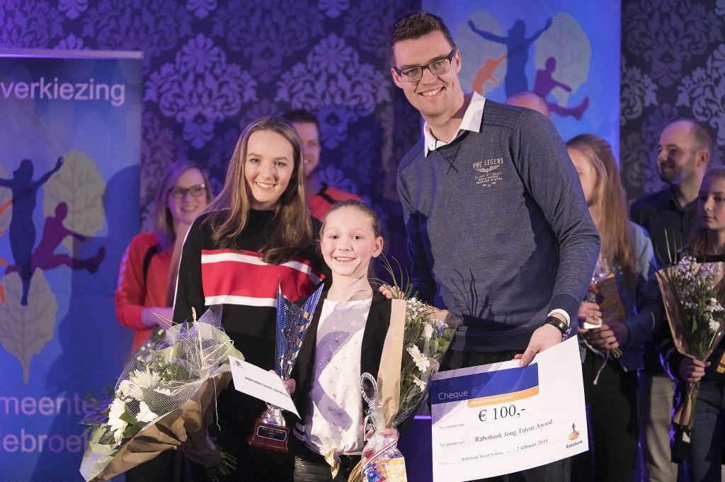 Turnster Jasmijn Koele won de Rabo Jong Talent Award Foto: Dik Kuiper © Persgroep
