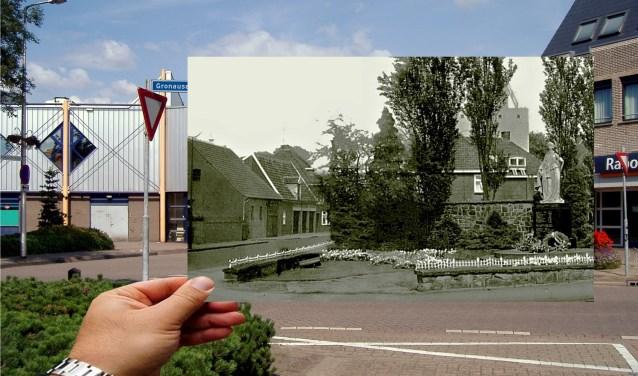 AA Het beeld werd gemaakt door P. Jungblut uit Bilthoven en stelt de Nederlandse maagd met zwaard en kruis voor. Het monument stond oorspronkelijk aan de Gronausestraat maar moest wijken voor de nieuwbouw van de Rabobank en kreeg toen zijn huidige plek.