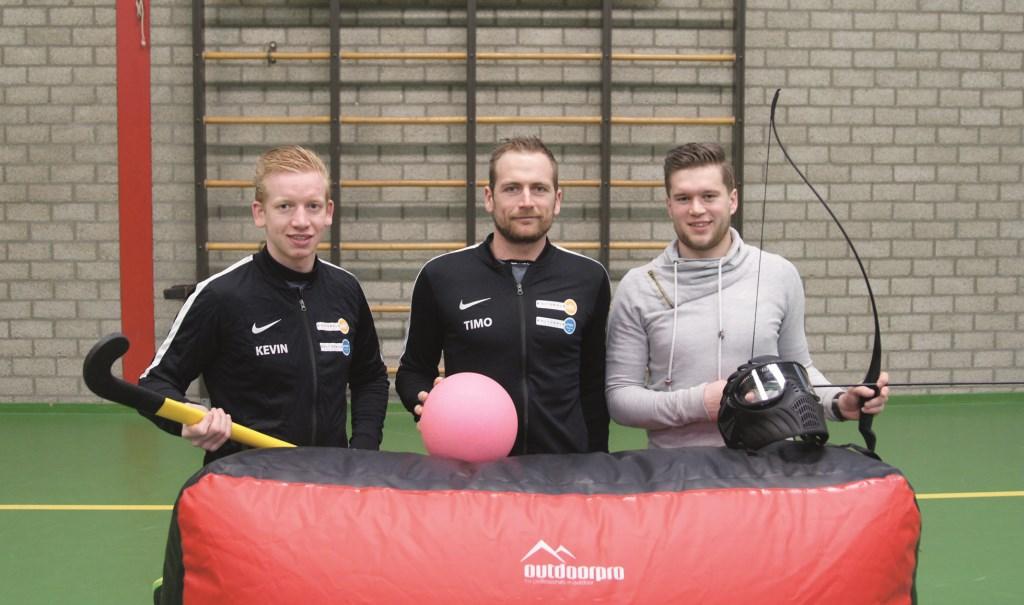 De combinatiefunctionarissen sport van de gemeente Westervoort, vlnr: Kevin van der Meer, Timo Riphagen en Stefan Reynders.