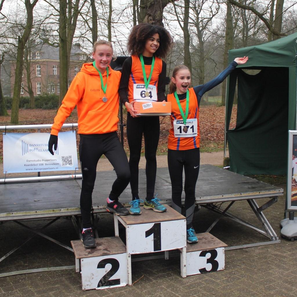 Climax-podium bij meisjes t/m 15 jaar