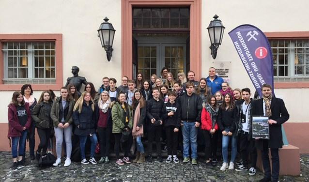Vijftien mavo 3-leerlingen van het Liemers College te gast bij de Gagernschule in Weilburg.