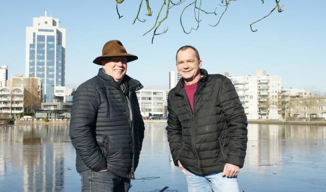 Het is Ton Lammertink (l) en Bas ter Burg niet gelukt een jaarlijkse Winterfair neer te zetten. .