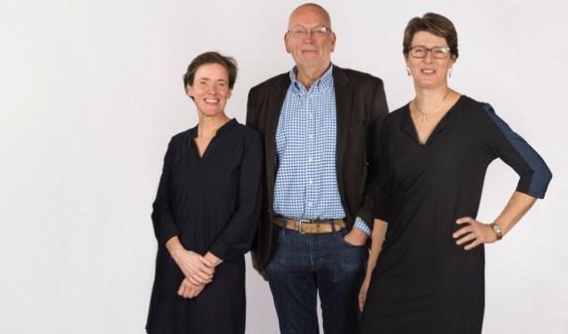 De top-3 van de kandidaten van D66 Veldhoven. V.l.n.r.Mariëlle Giesbertz, Piet Wijman en Ingrid Hartlief. Laatstgenoemde is tevens de lijsttrekker van D66 Veldhoven.