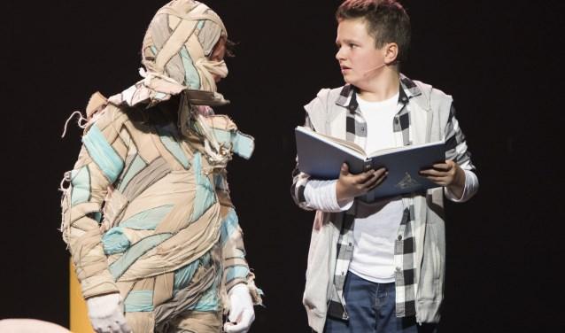 Woensdagmiddag 21 februari is in Nieuwe Nobelaer in Etten-Leur de familiemusical Dummie de Mummie te zien. FOTO: PEGGY DE HAAN