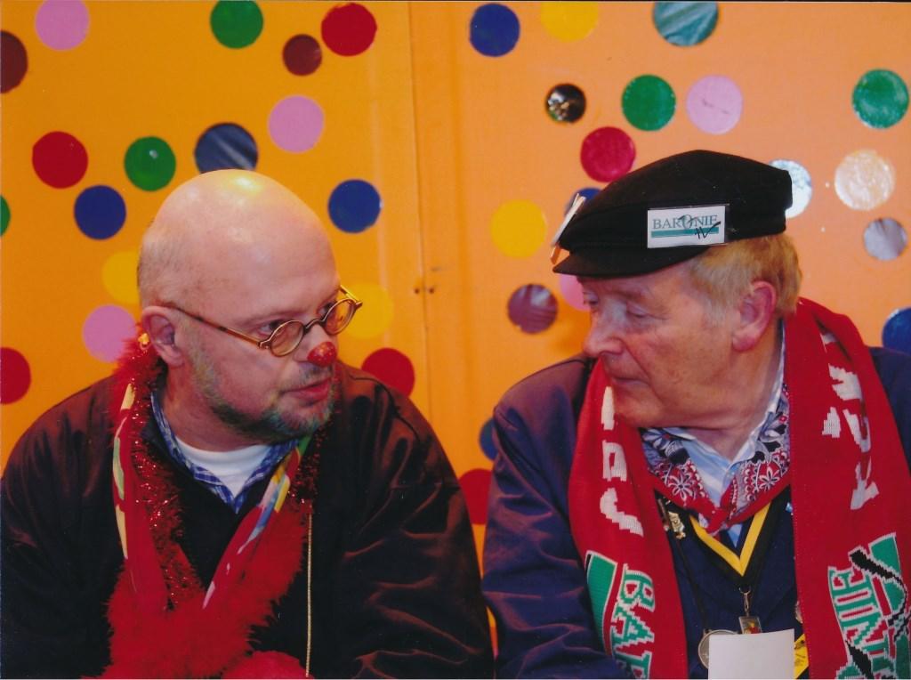 Jac Zom in gesprek met Cees Hoosemans, verslaggever van Princenhage.  © Persgroep