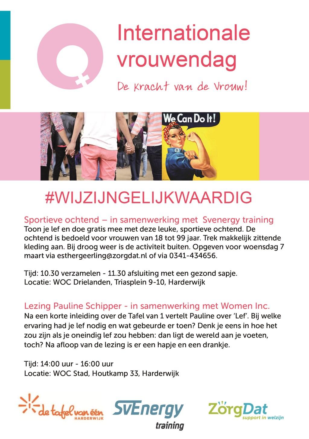 Programma Internationale Vrouwendag Harderwijk