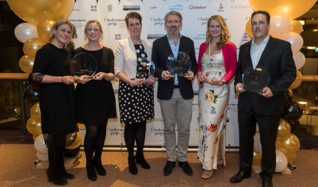 De winnaars van de verschillende Ondernemersprijzen BAR (Foto: PR)
