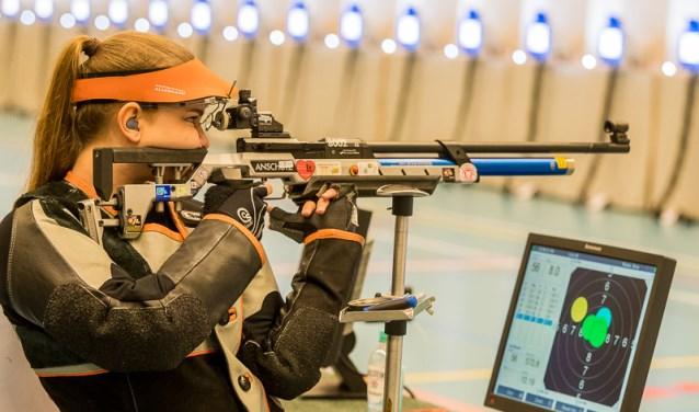 De Haagse Saskia Radersma behaalde dit jaar niet de finale bij Intershoot. (Foto: Marcel van der Looij)