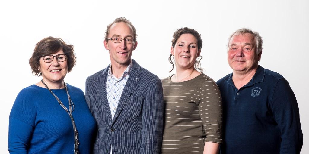 De eerste vier kandidaten van FD Maasdorpen. (Foto: JVG fotografie)