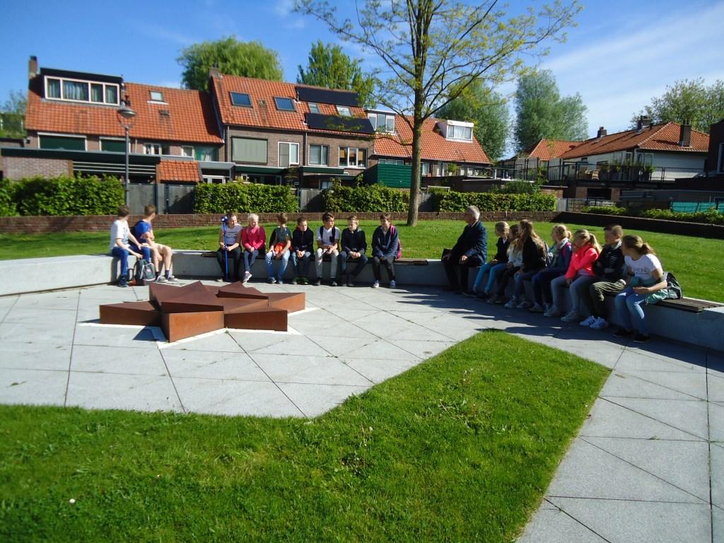 Het Hazeveld, waar de excursie begon van groep 8 van de Johannes Postschool in Hazerswoude-Dorp   © Persgroep