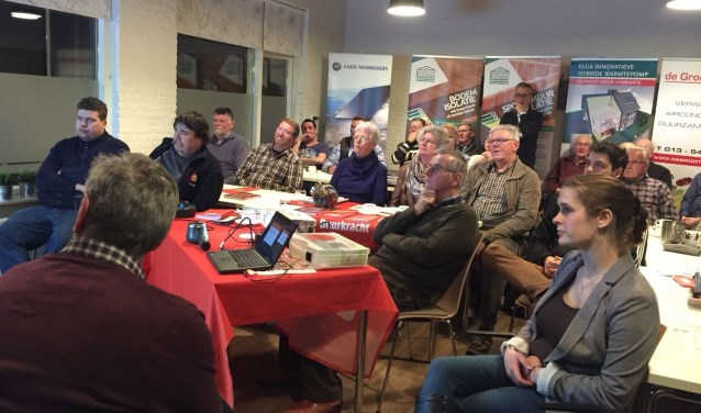 Het kleine zaaltje in 't Schooltje was op 23 januari tot de laatste zitplaats gevuld tijdens de bijeenkomst van Waspik-Boven.
