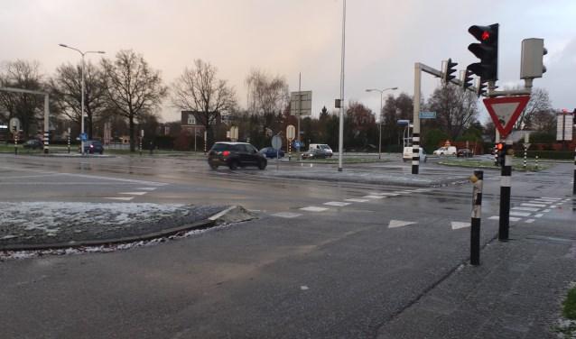 Het kruispunt Kollenveld/Berkelstraat is één van de meest gevaarlijke oversteekpunten voor fietsers uit de wijk Kollenveld