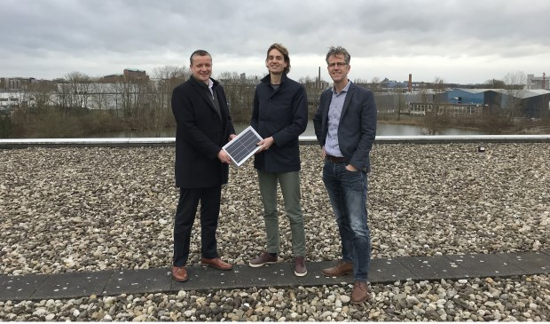 Theo Engels (links), Jorn Huiskamp en Hans van Enck (adviseur 12 MNDN Duurzaam)