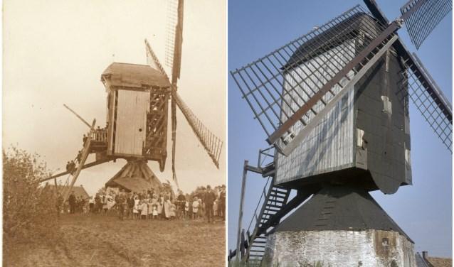In 1923 wordt de molen getroffen door een flinkeblikseminslag. Hij blijft overeind maar is ernstig beschadigd, zoals te zien is op de foto links (Archief van De Hollandse Molen). Op de rechter foto is te zien hoe de standerdmolen uit de Tweede Wereldoorlog is gekomen. (J.van Rijkevorsel)