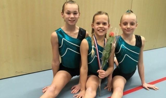 Afgelopen week was het de beurt aan de 3e divisie turnsters van Olympia Papendrecht tijdens de 2e plaatsingswedstrijd in Den Haag. (Foto: Privé)