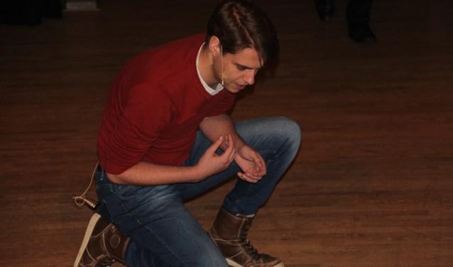 Joran Schuijn, docent drama aan het OSG Erasmus, wordt Quasimodo in de gelijknamige musical