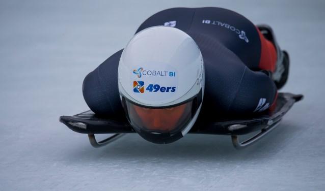 De Edese Kimberley Bos is de eerste Nederlandse Olympiër op het onderdeel skeleton. (Foto: Ron LeBlanc)