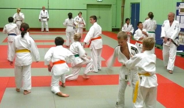 Judoclub To-Uchi maakt op een aantal dagen gebruik van de gymzaal. (tekst en archieffoto Geert van Someren)