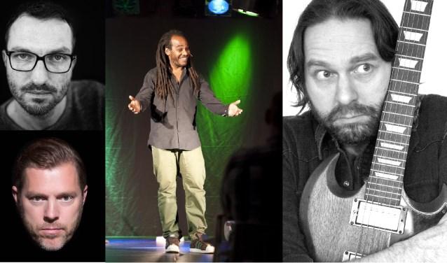 De vier stand-up comedians die hun opwachting zullen maken tijdens de eerste Kaapse Comedy Night