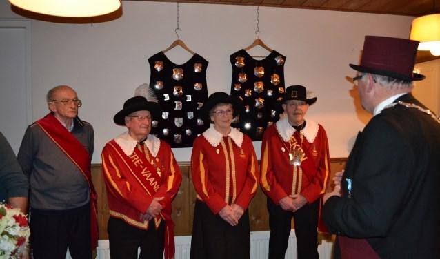 Theo van Gerven is 40 jaar lid bij het gilde. Piet Michiels en Harrie van de Pas maar liefst 60 jaar.