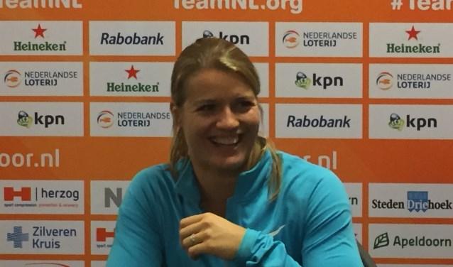 Dafne Schippers liep een ontspannen race en was dat naar haar winst bij NK Indoor nog steeds. Foto: Roberto Cancian