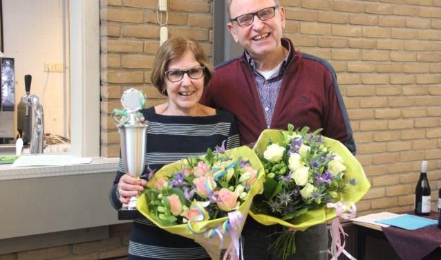 De winnaars: Adrie en Ronald Noordenbos