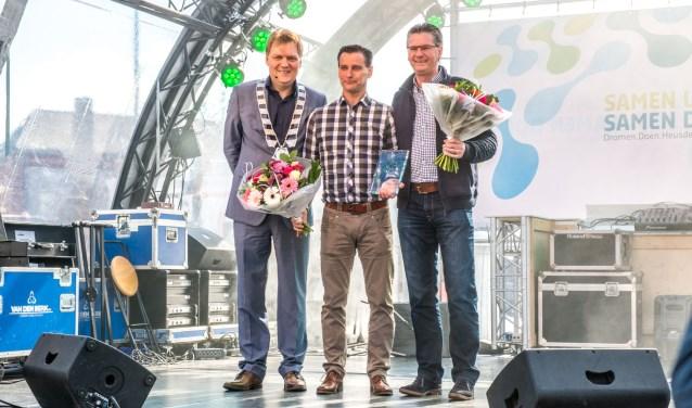 In 2016 ging de titel 'Heusdenaar van het Jaar' naar Eric Tausch en Jaap Verstraate. Stemmen op de kanidaten voor 2017 kan van 26 maart tot en met 15 april op www.heusden.nl/heusden700. Foto: Paul Engelkes