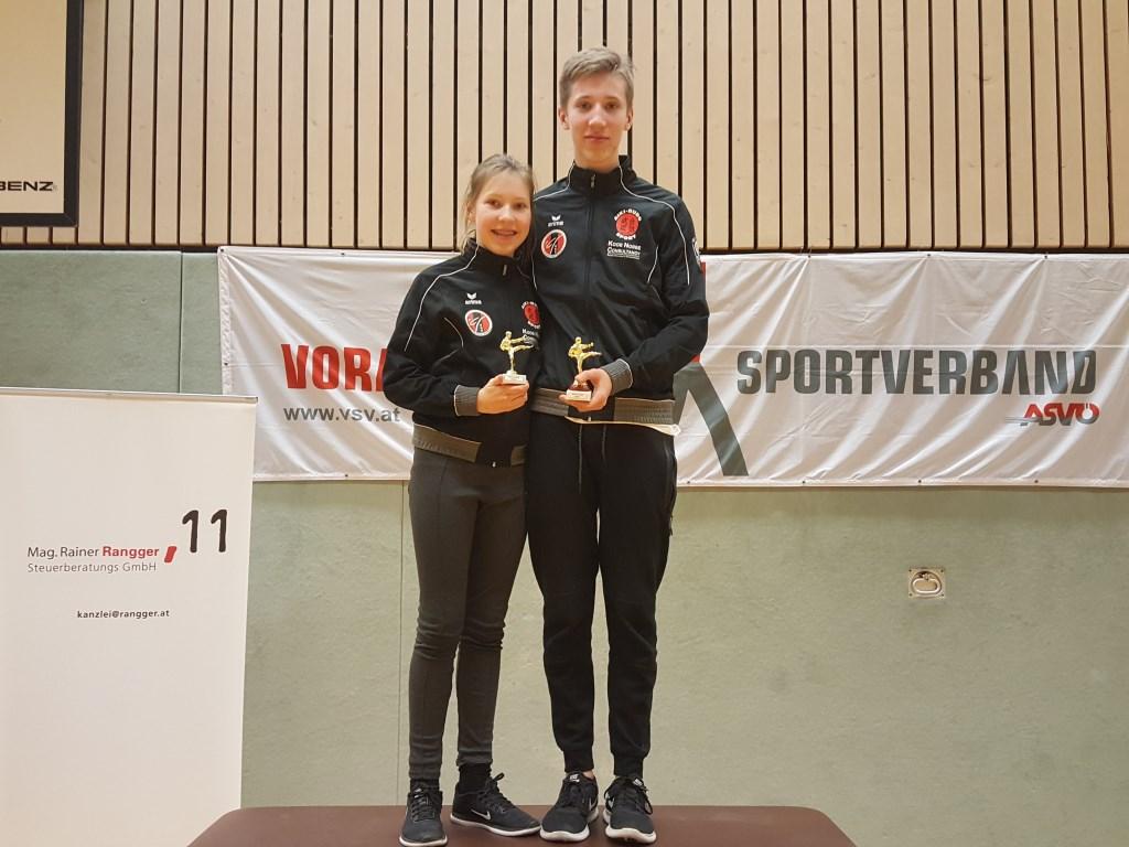 Julian en Nessa Nobbe  winnen  zilver en brons in Oostenrijk