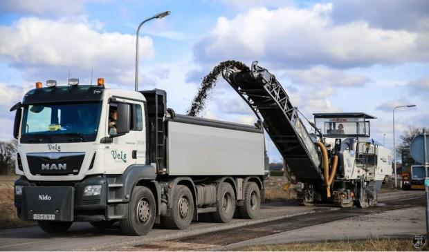 Afgelopen week werd onder meer een begin gemaakt met het verwijderen van de bypasses rond Eibergen.