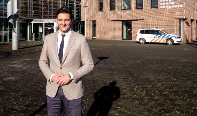 Lijsttrekker Nico Drost van de ChristenUnie streeft de komende raadsperiode in Rhenen naar een energieneutraal Rhenen in 2035. (Foto: Max Timons)