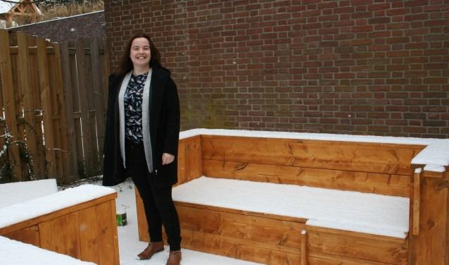 Annemarie vindt het tijd voor actie. Zij wil de krapte op de woningmarkt verminderen door het plaatsen van Tiny houses in Putten. Foto: Annemieke Westphal-Kreeftmeijer