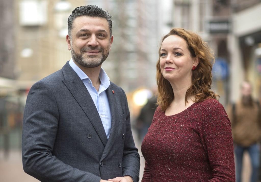 Lijsttrekker Ammar Selman en Charlotte Brand.