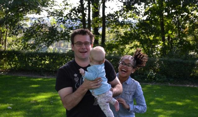 Pascal Durieux met zijn dochters Melle en Jula.