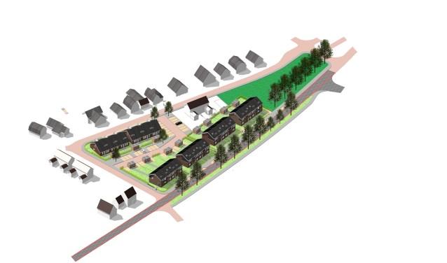 """Aan de Haaksbergseweg in Neede komen 22 gasloze woningen, die ook nog eens bijna energieneutraal zijn. Henk Meulenkamp: """"We bieden deze woningen aan onder de huurtoeslaggrens en daarmee zijn ze bereikbaar voor onze doelgroep."""""""
