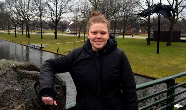 Dichi Wit bij de brug van de Prinsessegracht  (Foto: Jos van Leeuwen)