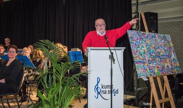 Zaterdag werd Kunst voor Vlinderkind gehouden in 't Rondeel. Het was een combinatie van een concert met een kunstveiling. De opbrengst van de veiling kwam volledig ten goede aan Stichting Vlinderkind. Foto: Corrie Verstappen
