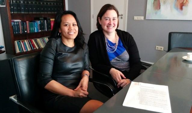 Dorien Oskam en Lijnie Reijers - die nog zoeken naar een locatie - ontvangen dagelijks nieuwe aanmeldingen voor begeleiding. (Foto: Privé)